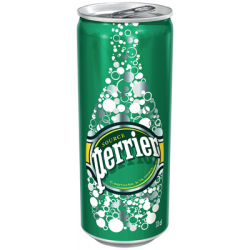 Canette Perrier 33cl slim