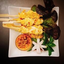 Gaï Satay – Brochettes de poulet mariné – ไก่สะเต๊ะ