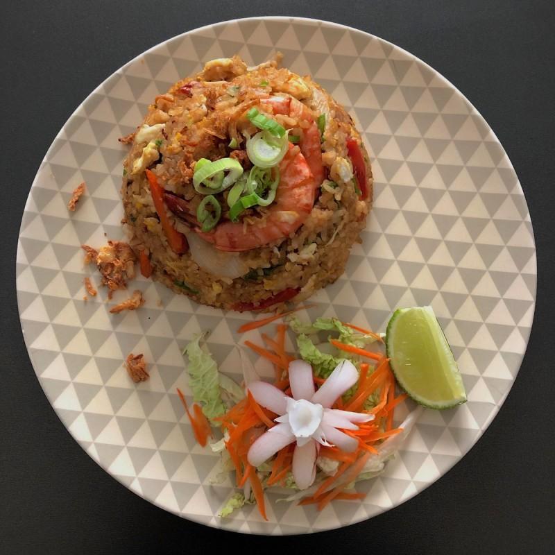 Kao Pad – Riz sauté aux petits légumes  – ข้าวผัด