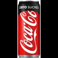 Canette Coca Cola Zero 33cl...